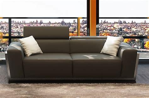 canap 233 3 places en cuir italien divin gris fonc 233 mobilier priv 233