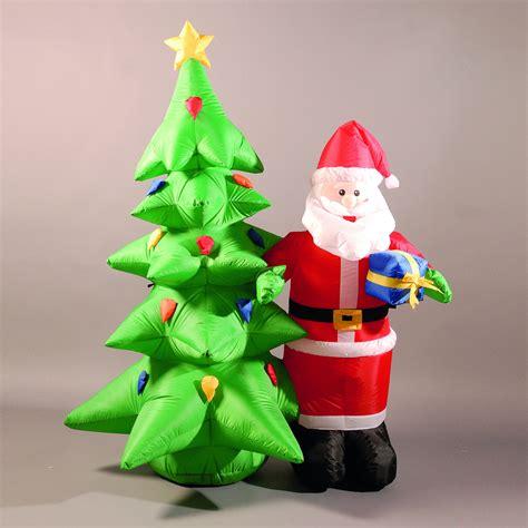 inflatable cm ft santa  christmas tree