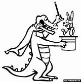 Coloring Magician Pages Croc Activities Animal Popular Designlooter sketch template