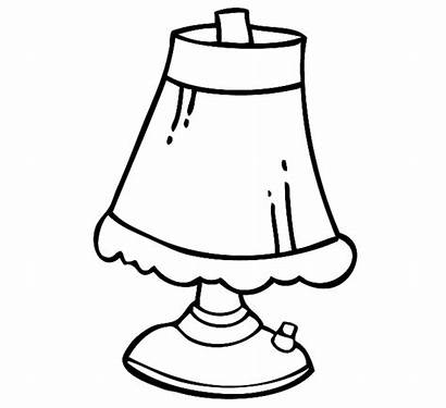 Lamp Drawing Genie Coloring Clipart Lighting Draw