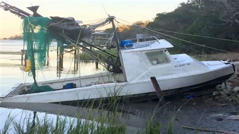 Hurricane Salvage Boats Florida by Shrimping Boats Damaged In Hurricane Matthew