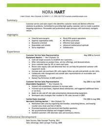 resume format for customer service representative customer service representatives resume sle my