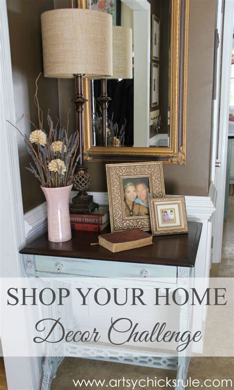 A Decorating Challenge  Shop Your Home (foyer Part 2