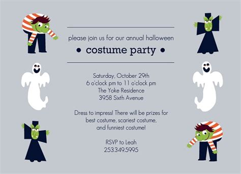 halloween costume party invitation festival collections