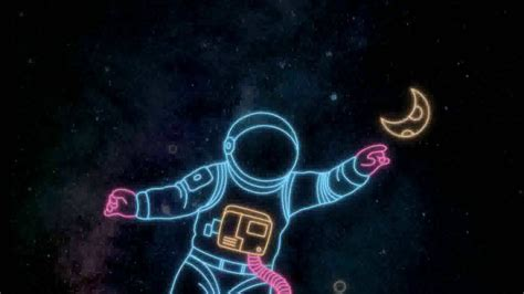 space neon moh animated wallpaper youtube