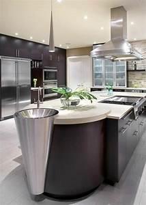 Cuisine équipée Ilot Central : cuisine avec ilot central evier ~ Dailycaller-alerts.com Idées de Décoration