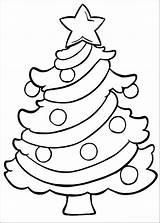 Christmas Tree Pages Simple Coloring Easy Printable Template Coloriage sketch template