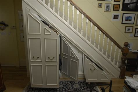 stair storage traditional closet toronto by
