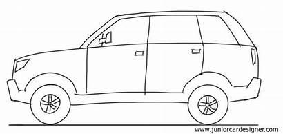 Drawing Suv Drawings Cars Side Draw Vehicle