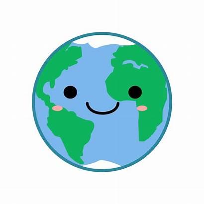 Kawaii Earth Clip Onlinelabels Svg