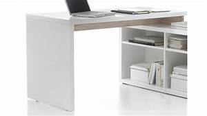Schreibtisch Zum Hochklappen : arbeitsplatz tokyo schreibtisch glanz wei san remo eiche ~ Sanjose-hotels-ca.com Haus und Dekorationen