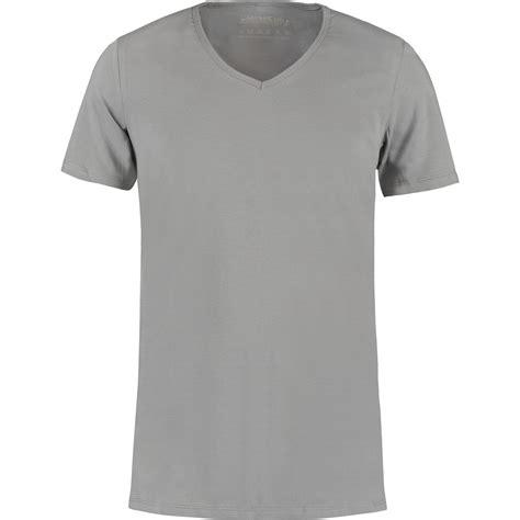 grijs diep  hals  shirts van shirtsofcotton  shirts soc