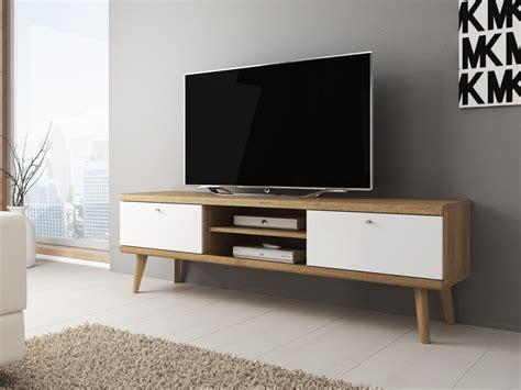 tv kastje scandinavisch tv meubel primavera wit licht eiken 160 cm actie