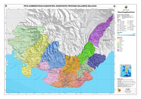 administrasi kabupaten jeneponto peta tematik indonesia