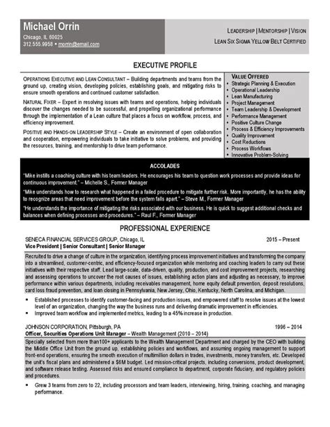 samples executive resume services  images