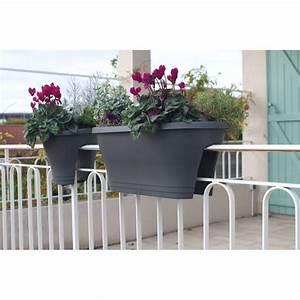 Bac A Fleur Balcon : jardini re de balcon corsica gris anthracite chez jardin et saisons ~ Teatrodelosmanantiales.com Idées de Décoration