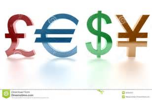 Dollar Euro Pound Sign