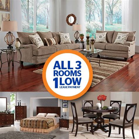 Living Room Sets Payments by Lease 3 Room Package Aarons Shop For Bedroom