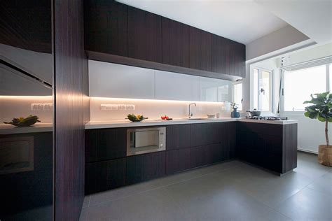 contemporary hdb kitchens  warmth  style