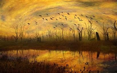 Autumn Season Painting Resolution 4k Published October