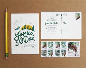 wedding save the date postcards scout 39 s honor co