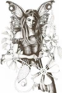 Pencil Drawings of Fairies