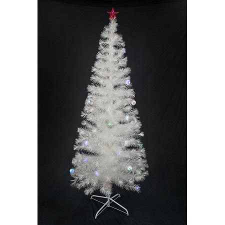 kasco colour changing led 2 6 ft fibre optic christmas tree 6 ft pre lit multi color led fiber optic tree bright white stand walmart
