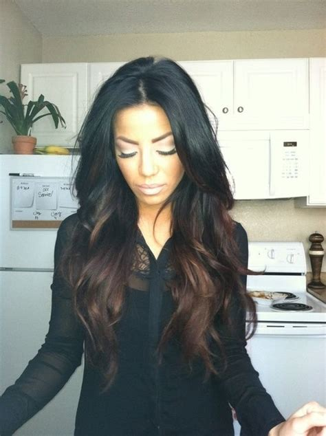 Black And Brown Hair Ideas by Picture Of Black Hair With Reddish Brown Highlights