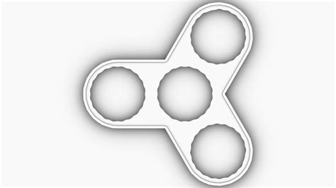 Fidget Spinner Template 3d Printable Fidget Triangle Bearing Spinner 3d
