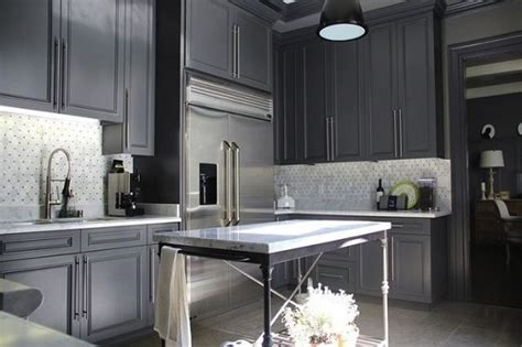 charcoal painted kitchen cabinets paint color ideas enter my addiction to charcoal gray 5234