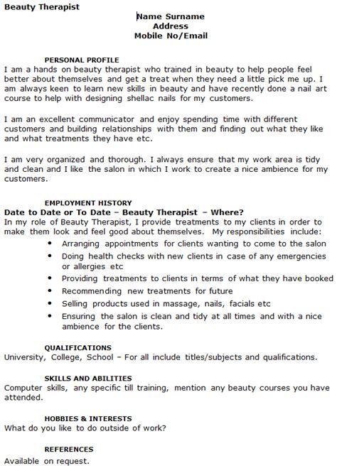 therapist cv exle icover org uk