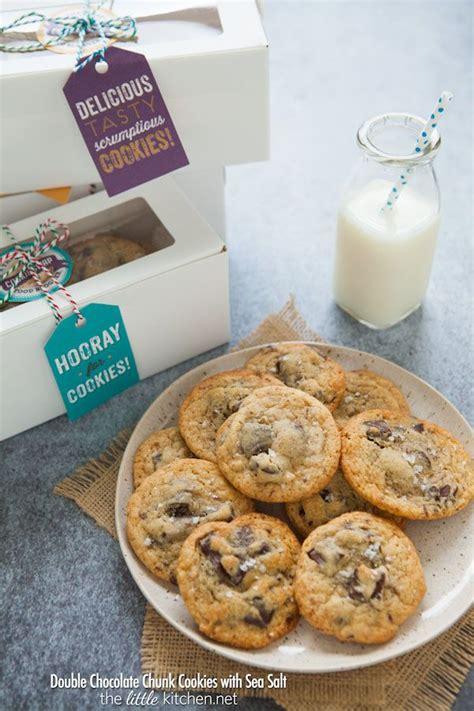 Chocolate Chunk Cookies with Sea Salt