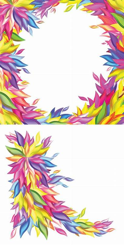 Colorful Vector Shape Willow Border Borders Clipart