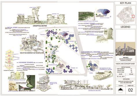 architectural portfolio housing concept sheet landscape architecture plan hospital