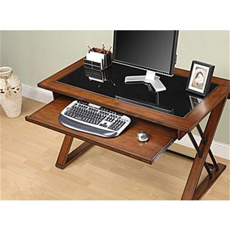 whalen 174 astoria computer desk brown cherry size is good