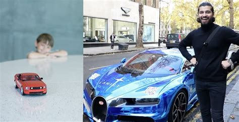 The car isn't your mundane bugatti seen nowadays. Success: Lord Aleem Who Stared At Cars In Childhood Owns A £3Million Bugatti Car