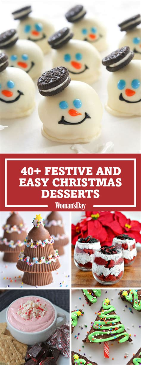 easy christmas recipes 57 easy christmas dessert recipes best ideas for fun holiday sweets