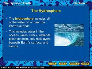 Section 3: The Hydrosphere and Biosphere - ppt video ...