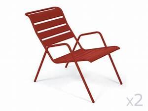 Fauteuil Bas Jardin : chaise et fauteuil de jardin acier alu r sine tress e ou textil ne ~ Teatrodelosmanantiales.com Idées de Décoration