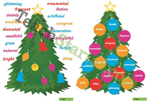 christmas tree adjectives posters