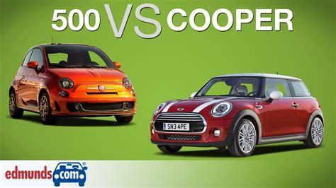 Fiat Mini Cooper by Fiat 500 Vs Mini Cooper Which Sub Compact Is Best Doovi