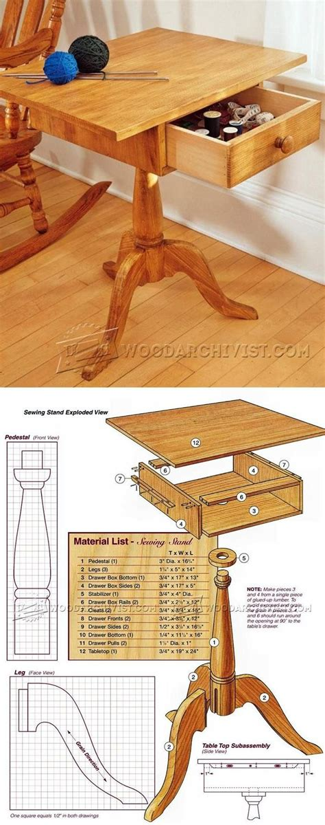 sewing stand plans woodworking plans  projects