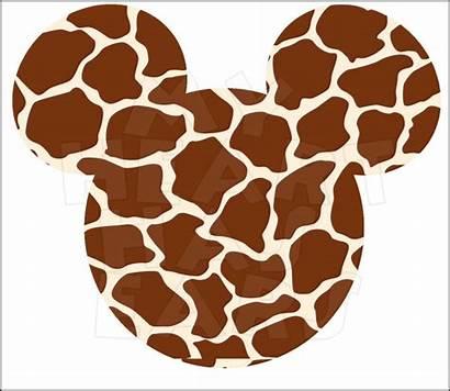 Mickey Mouse Giraffe Clip Ears Head Instant
