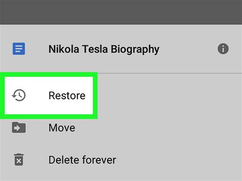 How to Recover Google Docs on Android: 5 Steps (with Pictures)
