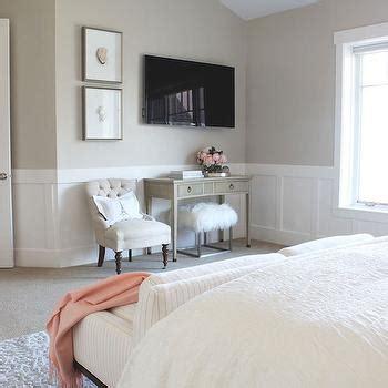 striped sofa transitional bedroom alice lane home