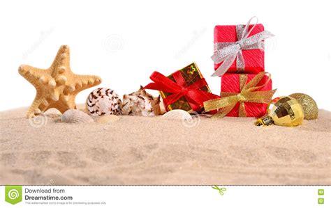 christmas decorations seashells  starfish   beach
