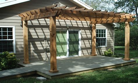 build pergola design patio arbor plans tips