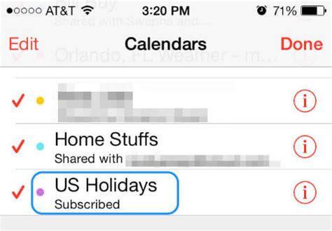 add country holiday calendar  iphoneipad mashtips