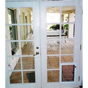 modern patio doors with built in door with clear plastic screen for the pet door 7