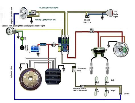 Mercury 650 Wiring Diagram by Battery Less Wiring Diagram With A Horn And Indicators